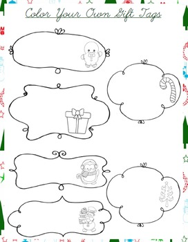 Christmas Color Your Own Gift Tags for Kids