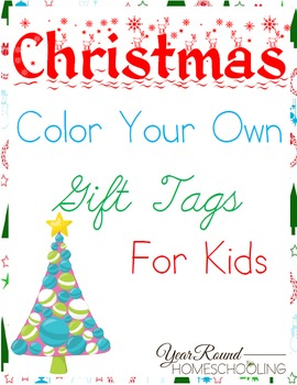 Christmas Gift Tags For Kids.Christmas Color Your Own Gift Tags For Kids