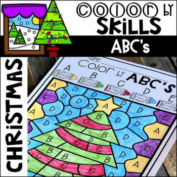 Christmas Color by Code ABC's (Uppercase and Lowercase)