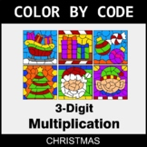Christmas Color by Code - 3-Digit Multiplication