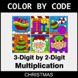 Christmas Color by Code - 3-Digit by 2-Digit Multiplication