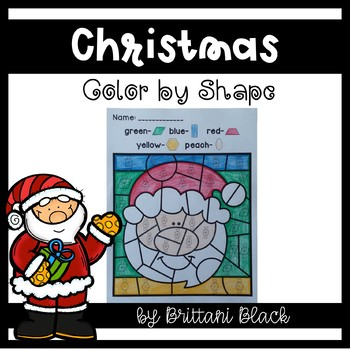 Christmas Color by Code- 2D Shapes