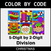 Christmas Color by Code - 5-Digit by 2-Digit Division