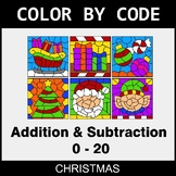 Christmas Color by Code - Addition & Subtraction (0-20)