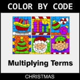 Christmas Color by Code - Algebra: Multiplying Terms
