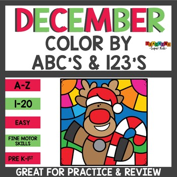 Christmas Color by Alphabet and Numbers