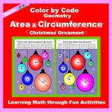Christmas Color by Code: Area and Circumference: Christmas