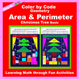 Christmas Color by Code: Area and Perimeter: Christmas Tree Basic