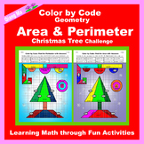 Christmas Color by Code: Area and Perimeter: Christmas Tree Challenge