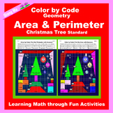 Christmas Color by Code: Area and Perimeter: Christmas Tree Standard