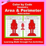 Christmas Color by Code: Area and Perimeter: Nutcracker