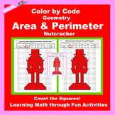 Christmas Color by Code: Area and Perimeter: Count Squares: Nutcracker