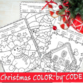 Christmas Color by Code - Christmas Coloring Pages - Numbe