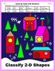 Christmas Color by Code: Classify 2-D Shapes