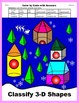 Christmas Color by Code: Classify 3-D Shapes