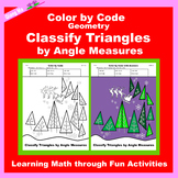 Christmas Color by Code: Classify Triangles by Angle Measures