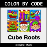 Christmas Color by Code - Cube Roots