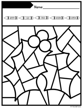 Christmas Coloring by Number Coloring Pages - Editable! by ...