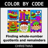 Christmas Color by Code - Find Whole-Number Quotients and