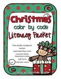 Christmas Color by Code Literacy Pack
