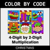 Christmas Color by Code - Multiplication: 4-Digit by 2-Digit