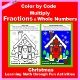 Christmas Color by Code: Multiply Fractions & Whole Numbers