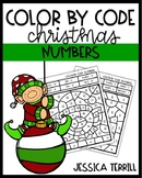Christmas Color by Code: Numbers 0-20