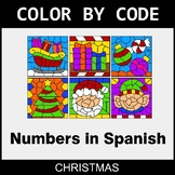 Christmas Color by Code - Numbers in Spanish