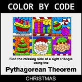 Christmas Color by Code - Pythagorean Theorem
