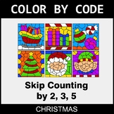 Christmas Color by Code - Skip Counting by 2, 3, 5