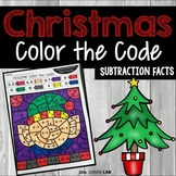 Christmas Color by Number Subtraction | Christmas Coloring Pages