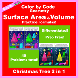 Christmas Color by Code: Surface Area and Volume Tree 2 in