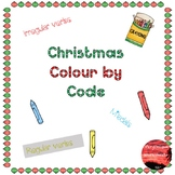 Christmas Color by Code (Verbs and Modals)