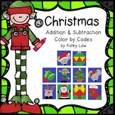 Christmas Color by Codes -- Addition/Subtraction