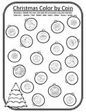 Christmas Color by Coin Christmas Tree Christmas Math Center 2nd Christmas Money