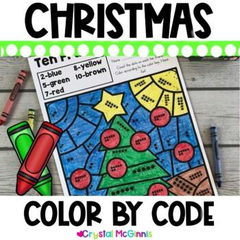 Christmas Color by Color Code (10 Kindergarten Skills)