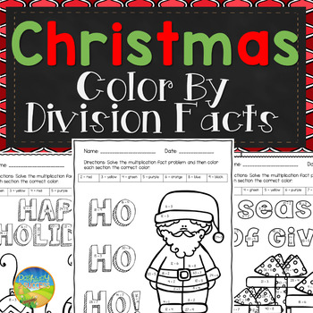Christmas Color by Division Facts