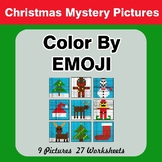 Christmas: Color by Emoji - Mystery Pictures