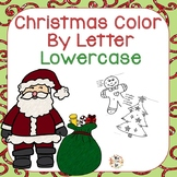 Christmas Color by Letter Lowercase