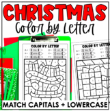 Christmas Color-by-Letter | Match Capital and Lowercase Le