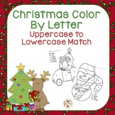 Christmas Color by Letter Match Upper to Lower