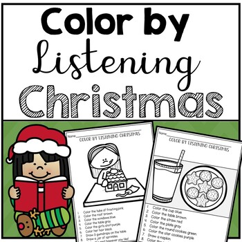 Christmas Color by Listening (A Following Directions Activity)