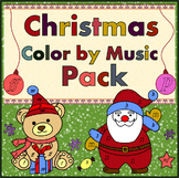 Christmas Music Coloring Pages | Color by Note and Symbol