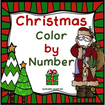 Christmas Color by Number / One to Ten