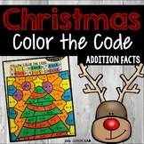 Christmas Color by Number Addition Facts | Christmas Color