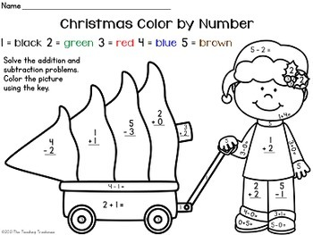 free christmas color by number addition subtraction within 10 free christmas color by number addition subtraction within 10