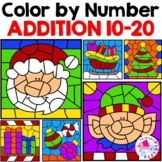 Christmas Color by Number Addition Sums 10-20