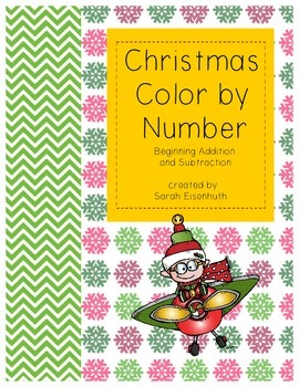 Christmas Color by Number: Beginning Addition and Subtraction