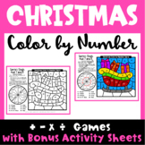 Christmas Color by Number Math Games