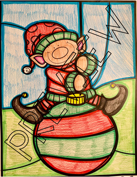 Christmas Color by Number - Dividing Fractions